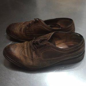 "Frye ""James"" Brogue Shoes- Tan"